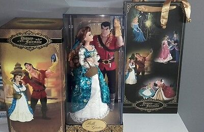 Disney Beauty & Beast Belle and Gaston limited edition Fairytale designer dolls.