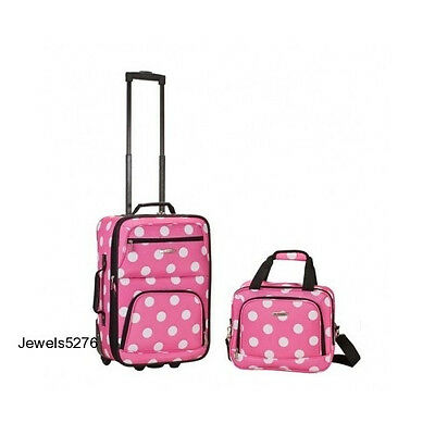 Expandable Luggage Set Carry On Tote Travel Bag Women Girls Suitcase Wheels Pink