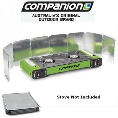 Companion Camping Windshield For Double Portable Gas Stoves Comp8534