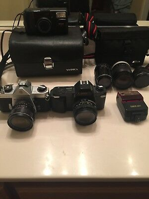 35mm Camera Lot :Asahi Pentax,cannon T50,Nikon Zoom Touch 400