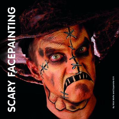 Books - Scary Faces By Nick Wolfe Face and Body Paint Costume Makeup