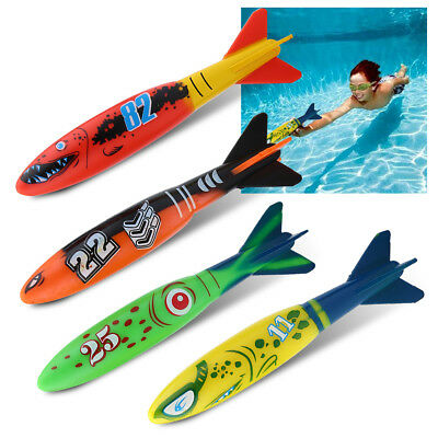 4xPool Diving Underwater Rocket Toy Party Game Outdoor Sports Swimming Trainning