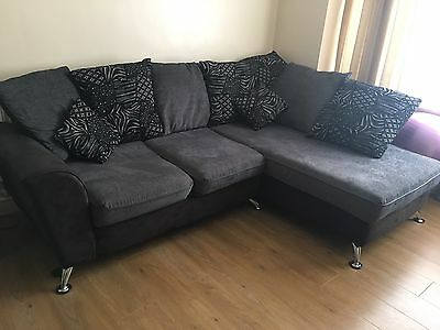 Corner Sofa And Swivel Chair With Footstool