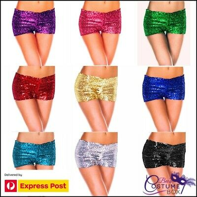 Rave Wear / Club Wear Sequin Booty Shorts- Sequence Pants - Aus Dispatch Express