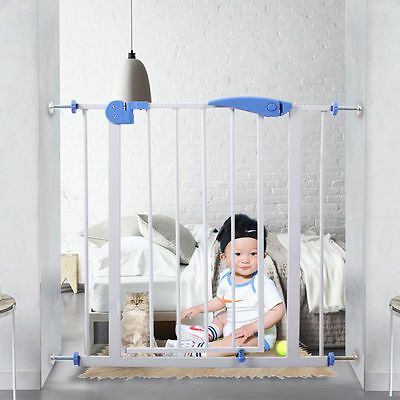 Baby Safety Gate Walk Through Child Infant Pet Dog Safety Lock Extra Tall Door