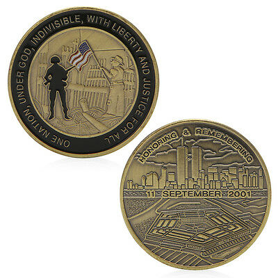 Honoring Remembering 11 September 2001 Coin Commemorative Challenge Token Gift