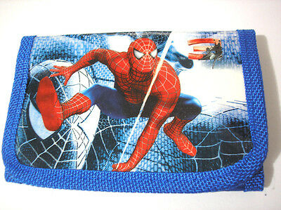 Blue Spiderman 3-fold Boy's Wallet
