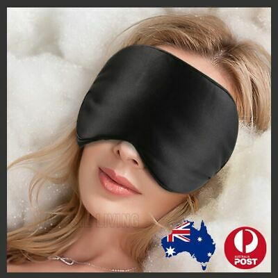 100% Pure Silk Sleeping Sleep Eye Mask Blindfold Lights Travel Relax Soft