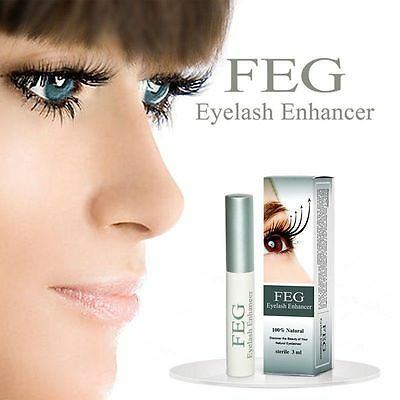 UK FEG Eyelash Enhancer Eye Lash Rapid Fast Growth Serum Liquid Original 3ml NEW