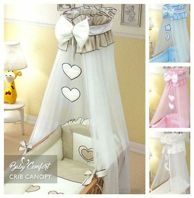 Crown Drape / Canopy Netting Fits Crib / Cradle Check Pattern
