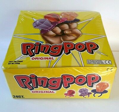 ☆BULK BUY☆ RING POP 24 x 14g - Kids party lollies - Fast & Free post - Lollipops