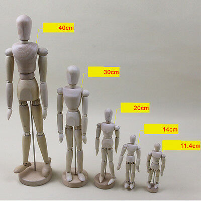 HA Wood Figure Manikin Mannequin Artist Drawing Sketching Jointed Human Puppet