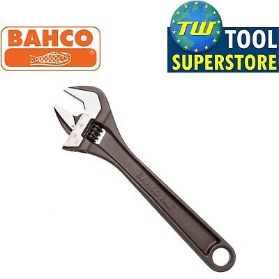 "Bahco 10"" Black Adjustable Spanner 250mm Wrench - 30mm Wide Jaw Capacity 8072"