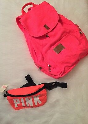 Victorias Secret PINK Fanny Pack Neon SPRING BREAK W/ PREOWNED Backpack