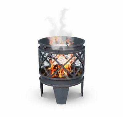 New Luxo Turin Antique Look Outdoor Fire Pit Heater Portable Fireplace