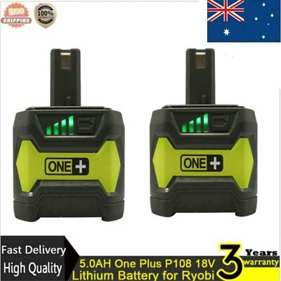 5.0AH One Plus P108 18V Lithium Battery for Ryobi P104 P105 P102 P103 P107