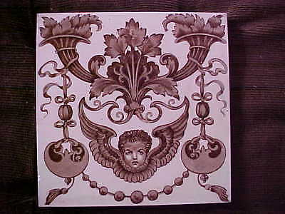 Victorian Tile with Reg. No.