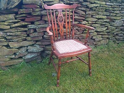 welsh (arts and crafts) elbow chair, farm house country home chair.