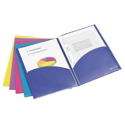 Rapesco Assorted Bright A4 Twin ID Files (Pack of 5) 0788 [HT00155]
