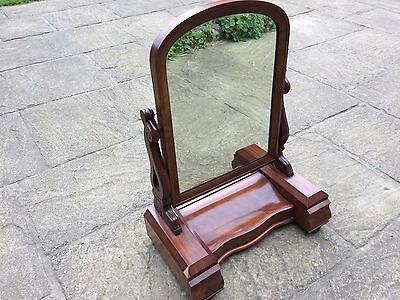 Large Early Victorian Mahogany Dressing Table Mirror