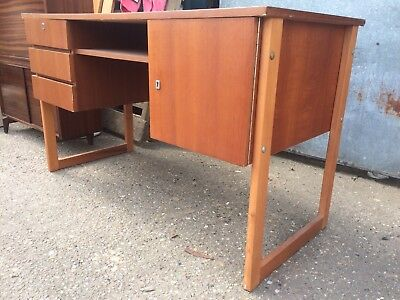 Vintage 1970s Teak Desk Bought In France Retro G Plan Style Midcentury