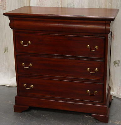 Solid Mahogany Reproduction French Style Sleigh 4 Drawer Chest