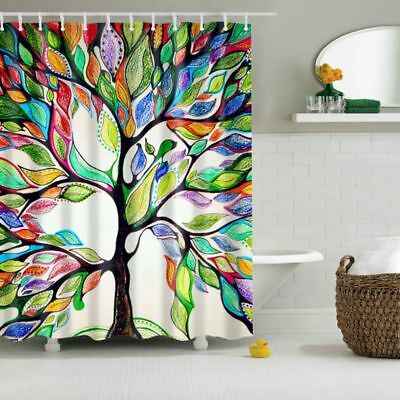 Beautiful Waterproof Fabric Tree Pattern Bathroom Bath Shower Curtain Decoration