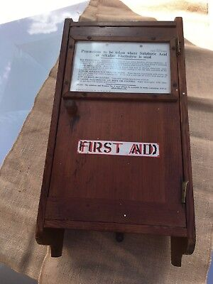 Antique Wooden First Aid Box