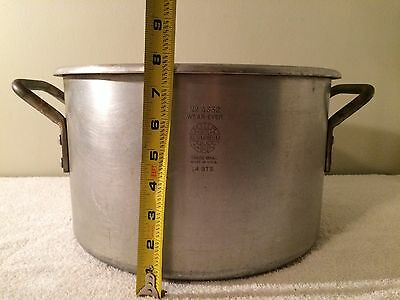 Vintage Heavy Duty Commercial 14 Quart (3.5 Gallon) Aluminum Stock Pot
