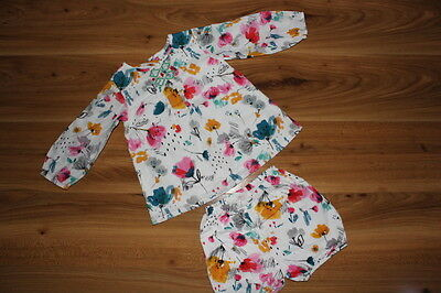 M&S girls pretty outfit tunic pants 12-18 months *I'll combine postage