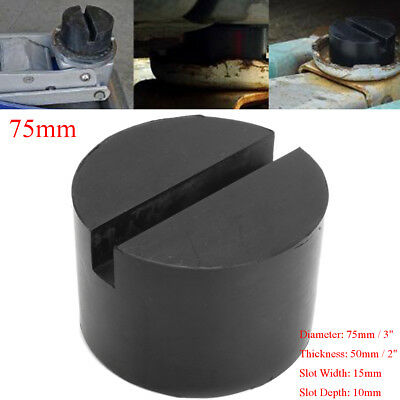"""3"""" Rubber Slotted Frame Rail Floor Jack Adapter Lift Pad Protector 2"""" Thick"""