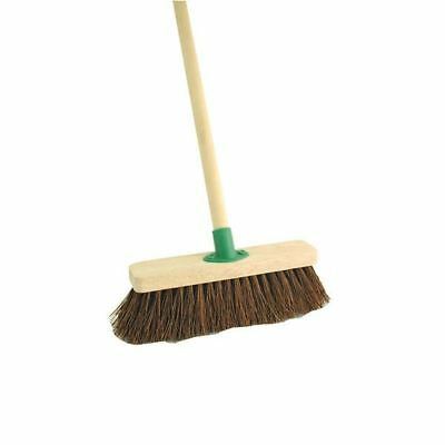 Bassine 12 Inch Stiff Broom With Handle F.10/Black T/C4 [CX00375]