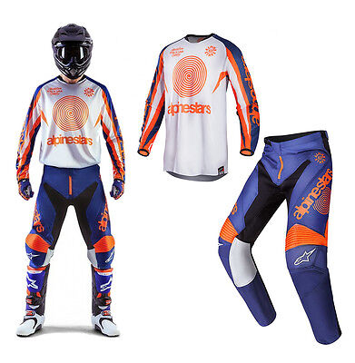 Alpinestars Racer Braap MX Motocross Cross Combo Jersey+Hose LE INDIANAPOLIS