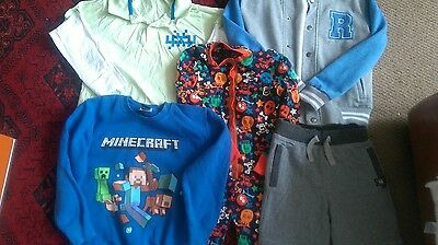 boys clothes bundle age 7-9 years good condition minecraft