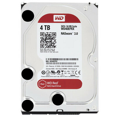 Western Digital WD40EFRX Red 4TB NAS-Festplatte SATA 6Gb/s HDD