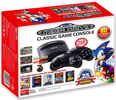 SEGA Mega Drive Classic Game Console with 80 inbuilt games by AtGames