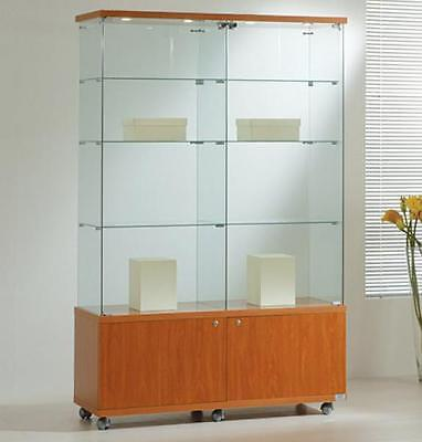 Showcase 117X40X181H With Spotlights And Cabinet Furnishing Accessories