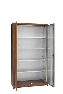 Cabinet with shelf 2 doors coated galvanized Cm. 80X50X200H Office Forniture