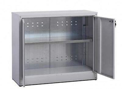 Cabinet coated galvanized with shelf low size with 2 doors Knockers Cm 80X40X80H