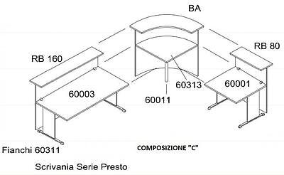 Composition Reception Eco Without Chests Cm. 256X176X115H Office Forniture