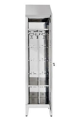 Wardrobe Locker Stainless Steel AISI 430 1 place Anta Dirty / Clean 50X40X215H