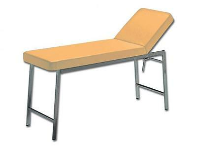 Bed Medical Examination Steel Structure Apricot Mattress Backrest Hole 180X57X73