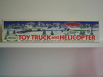 1995 Hess Toy Truck And Helicopter New In Box!!! 95-1