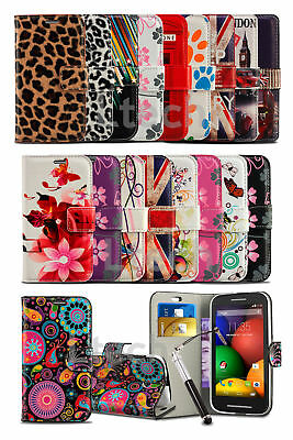 Microsoft Lumia 535 - Bright Printed Pattern Wallet Case Cover & Retractable Pen