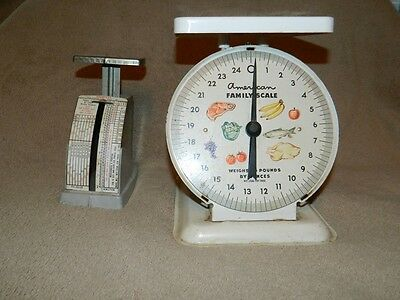 Vintage American Family Scale and Countess Postal Scale