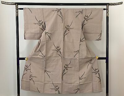 Authentic vintage Japanese summer kimono for women, Japan import, M,short(M1568)