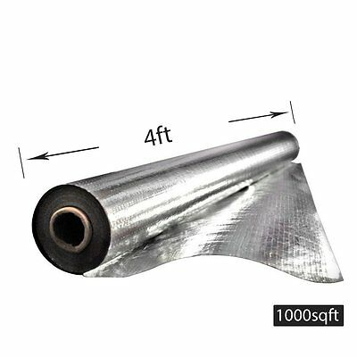 4'x250' Radiant Barrier Attic Aluminum Foil Reflective Insulation 1000sqft 33lbs