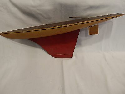 """Old Seaworthy 21 """" Long Wood Pond Boat..100% Original Paint...free Shipping.."""