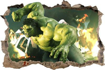 HULK The Avengers Smashed Wall 3D Decal Removable Graphic Wall Sticker H154