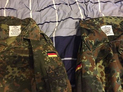 German Bundeswehr Surplus Flecktarn CAMO BDU Uniform Shirt